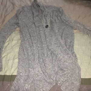 AB studio open sweater with one button